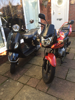 Vespa LX125 & Honda CBF125