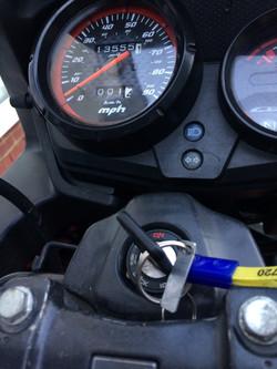 HondaCBF125 Red 2011 dash