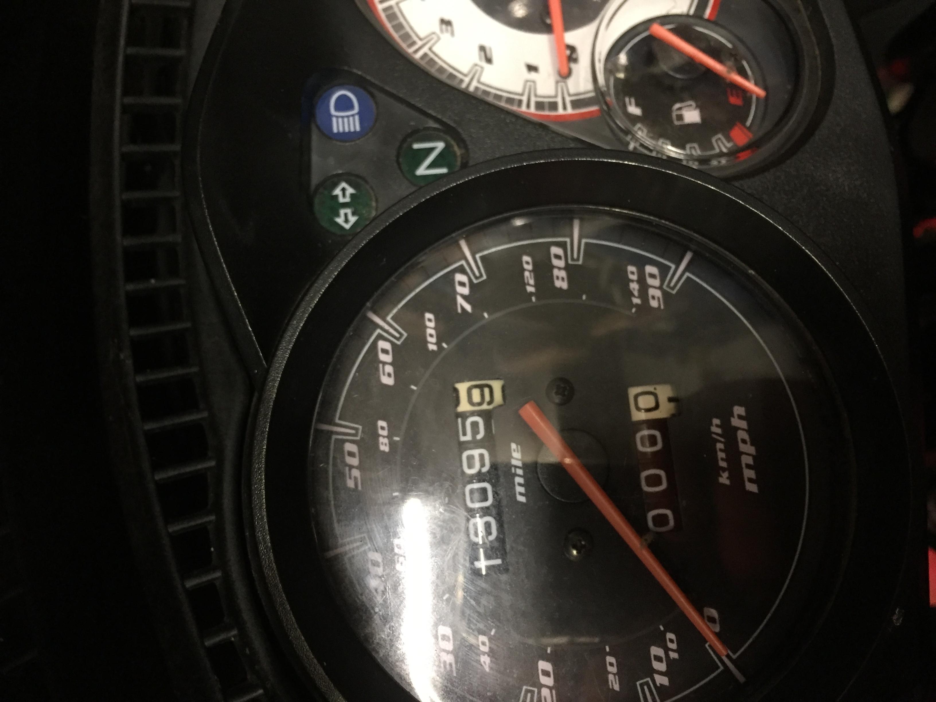 Honda CBF125 2011 - Dash