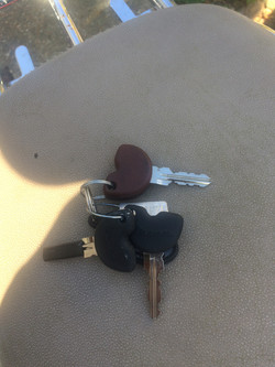 Vespa LX125 2011 Blue keys