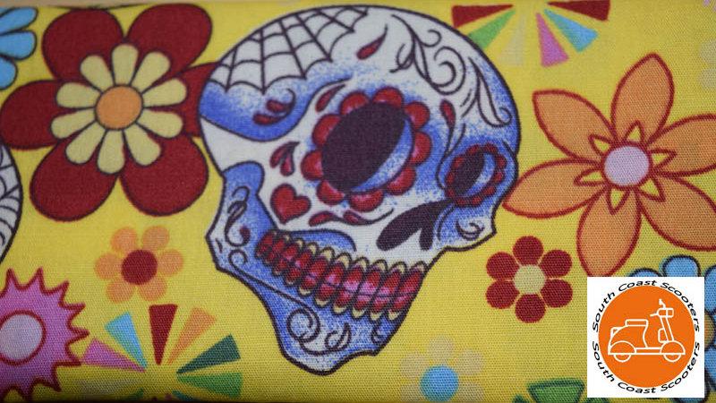 Skull Design Face Mask - YELLOW