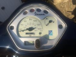 Vespa LX125 2011 Blue dash