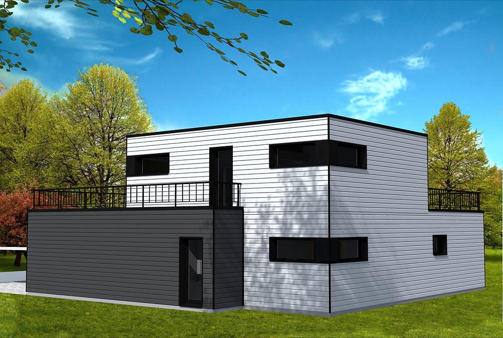 Maison avec garage pour avion