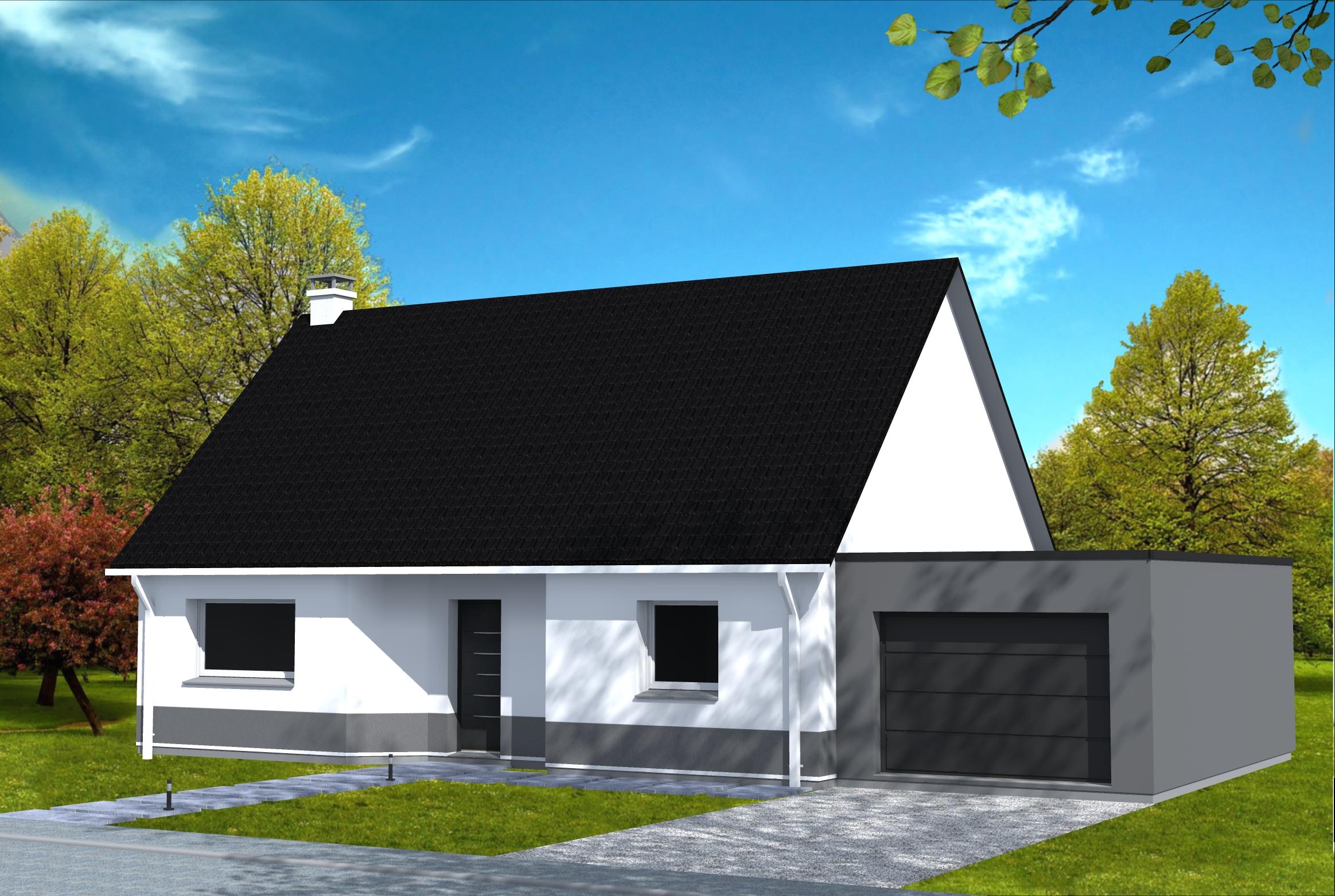 maison avec garage cubique yohann baheux ma tre d 39 oeuvre permis de construire 59 62. Black Bedroom Furniture Sets. Home Design Ideas
