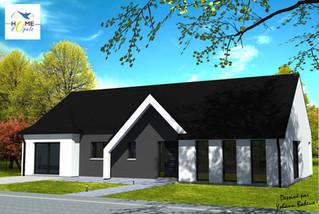 Maison avec porche moderne