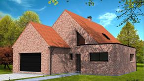 Maison avec pignon face à la rue