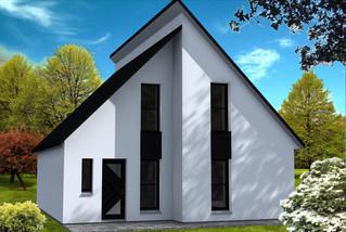 Maison pignon en façade