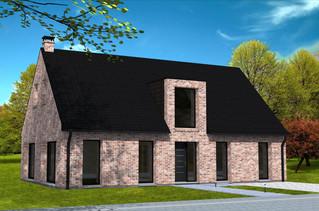 Maison lucarne moderne