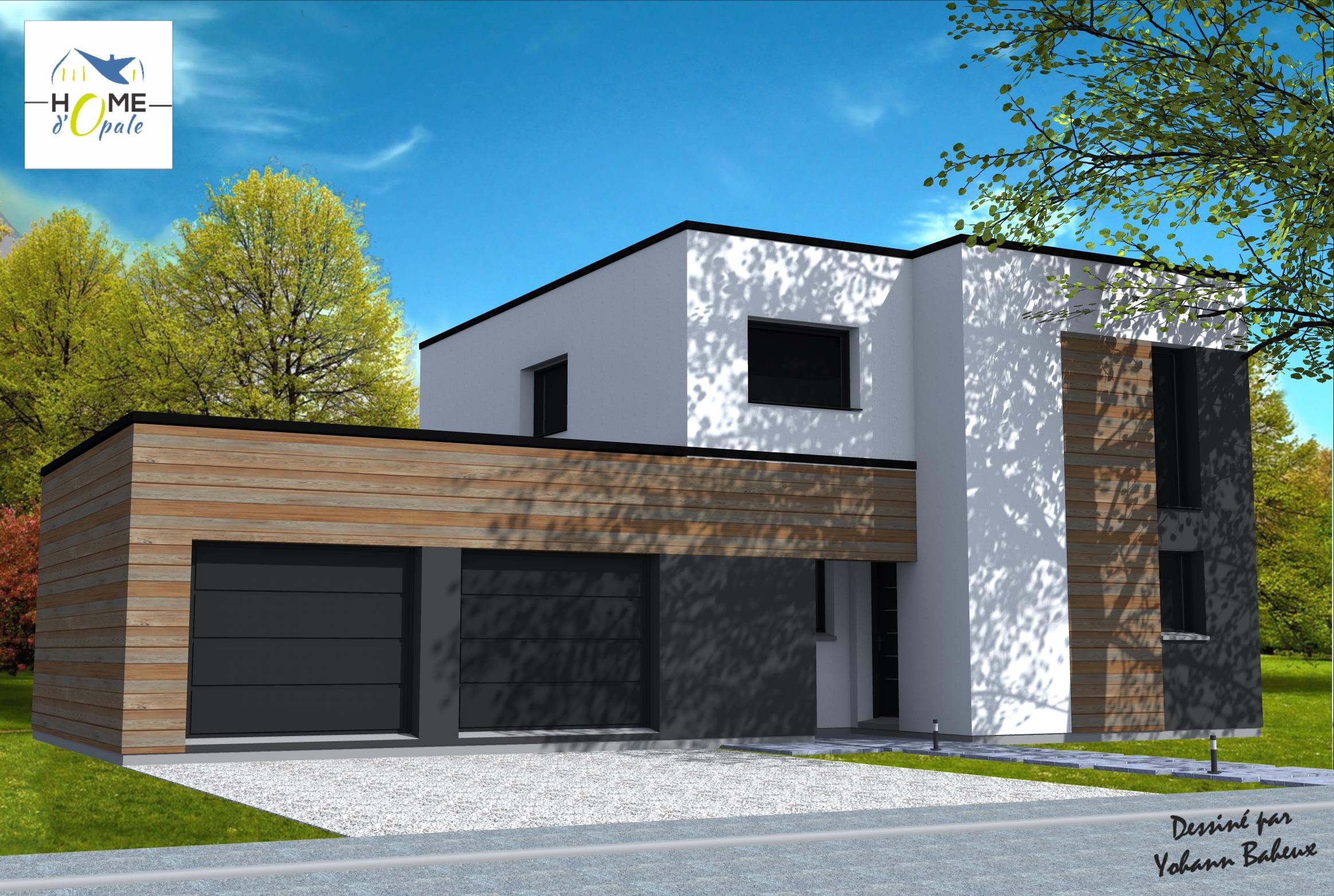 maison cubique yohann baheux ma tre d 39 oeuvre permis de construire 59 62. Black Bedroom Furniture Sets. Home Design Ideas