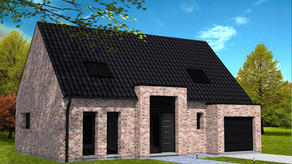 Maison avec entrée moderne.