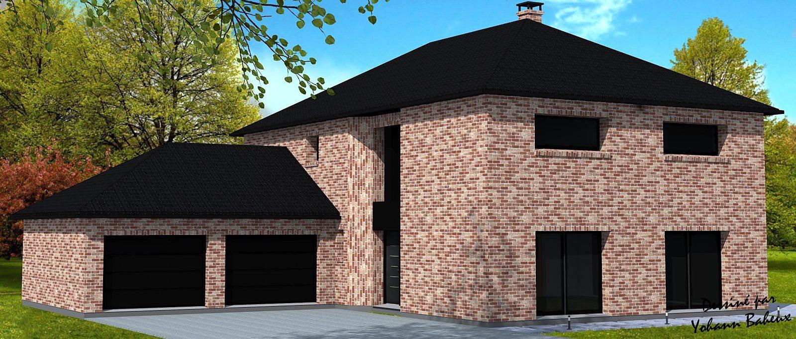 maison brique moderne latest maison en brique maison. Black Bedroom Furniture Sets. Home Design Ideas