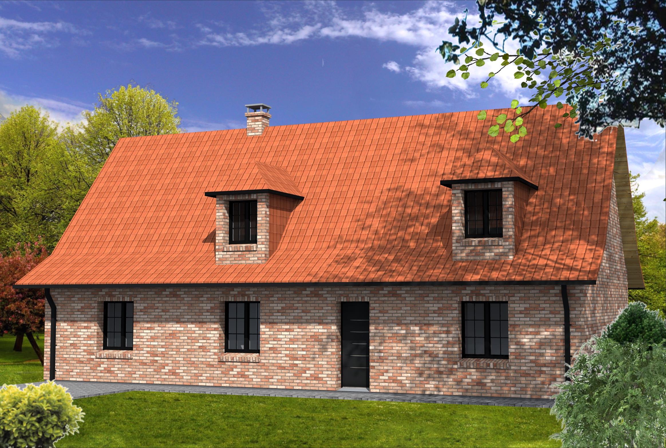 maison en brique rouge simple petite maison depuis brique. Black Bedroom Furniture Sets. Home Design Ideas