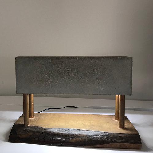 Lamp with rectangular base