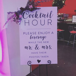 Cocktail Hour Signage