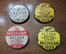 Vintage Michigan Licenses