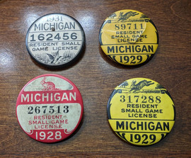 Vintage Michigan Licenses