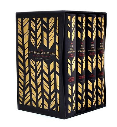 The NIV Sola Scriptura Bible Project HC in slipcase