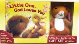 Little One, God Loves You Gift Set bk & toy