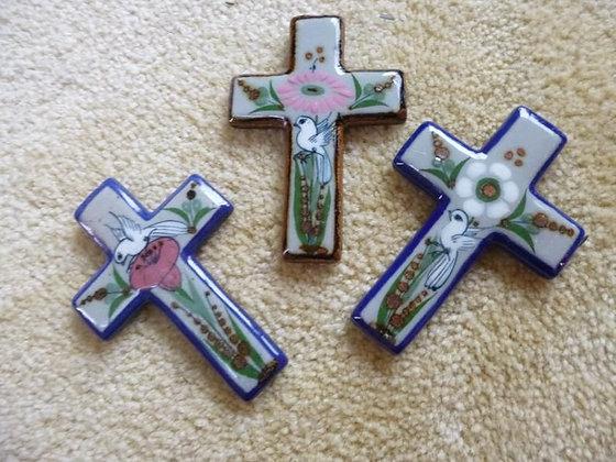 Hand Painted Ceramic Crosses