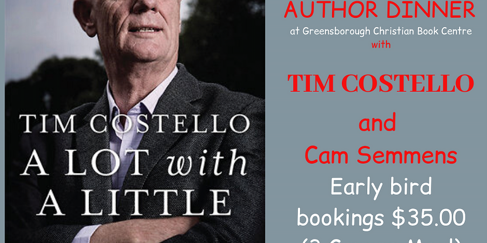 Author Dinner Tim Costello and Cam Semmens