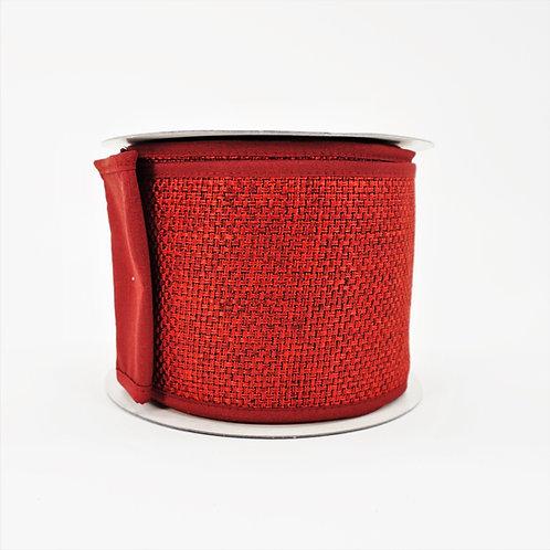 RIBBON GALAXY TEXT DUPION 4X10 RED