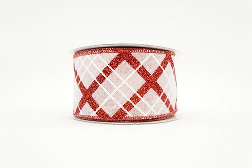 GLITTER DIAMOND RIBBON 2.5X10 PINK,RED,WHITE