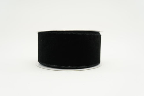 RIBBON ELEGANT VELVET 2.5X10 BLACK