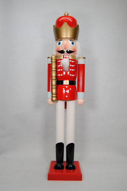 NUTCRACKER 48IN KING RED/WH