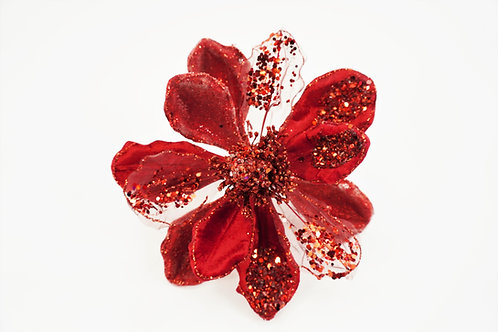 MAGNOLIA CLIP LG RED