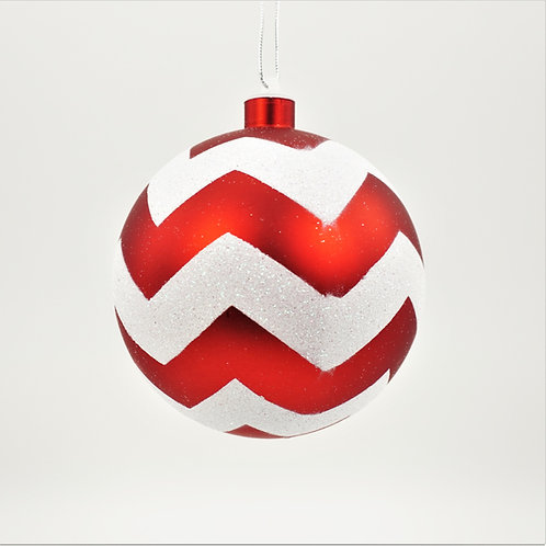 BALL 120MM CHEVRON RED AND WHITE