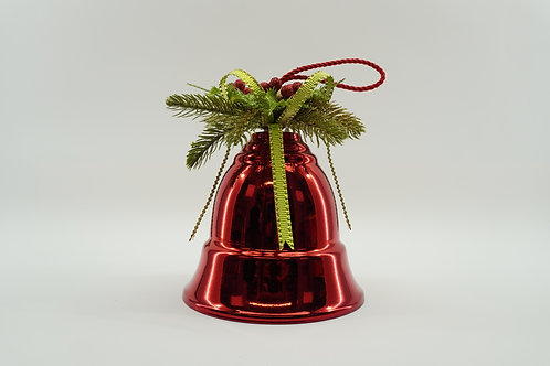 LIBERTY BELL 200MM 10IN TALL WITH DECOR RED