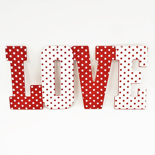 LOVE SIGN 10X22 RED AND WHITE
