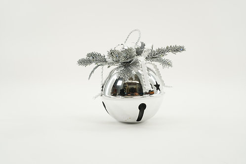 JINGLE BELL 120MM WITH DECOR SILVER