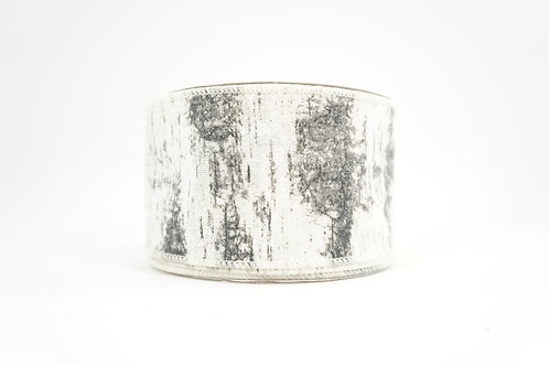 GLITTER BIRCH RIBBON 2.5X10