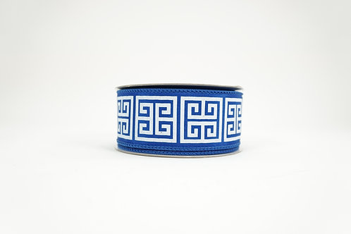 GREEK KEY RIBBON 1.5X10 BLUE,WHITE