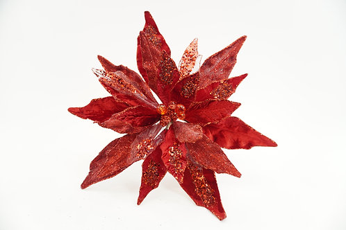 CLIP POINSETTIA XXL RED