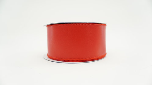RIBBON LEATHERETTE 2.5X10 RED