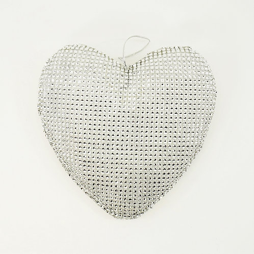 HEART With BLING 8IN SILVER