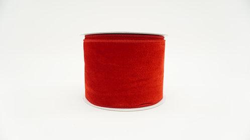 RIBBON ELEGANT VELVET 4X10 RED