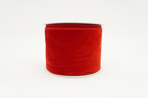 RIBBON ELEGANT VELVET 4X10 RED