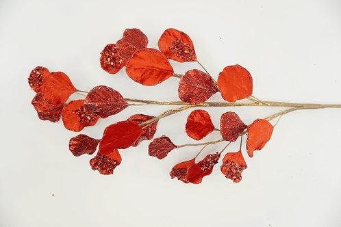 GINGKO LEAF SPRAY RED