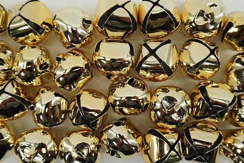 JINGLE BELLS 30MM 28PK GOLD