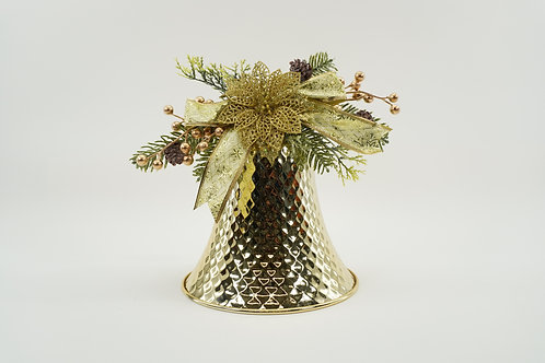 LIBERTY BELL 10IN WITH DECOR GOLD