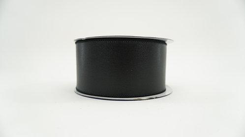 RIBBON LEATHERETTE 2.5X10 BLACK