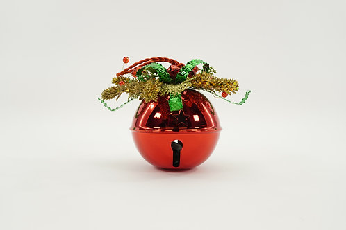 JINGLE BELL 120MM WITH DECOR RED