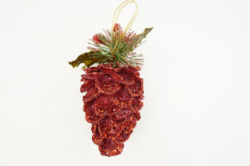 PINECONE SPARKLING LG RED