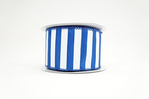 HORIZONTAL STRIPE RIBBON 2.5X10 BLUE,WHITE