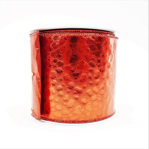 RIBBON METALLIC CHEETAH 4X10 RED