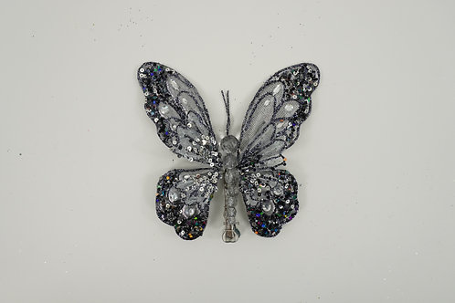 BUTTERFLY WITH CLIP  BLACK SMOKEY