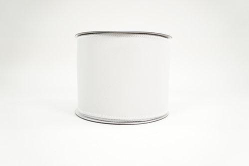 LEATHERETTE RIBBON 4X10 WHITE